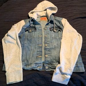 Levi's denim jacket with hood